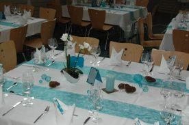 Mähringer Festhalle Tischdekoration